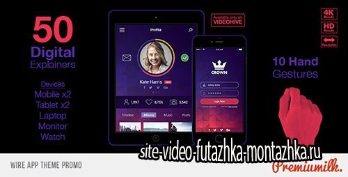 Wire App Theme Promo - Project for After Effects (Videohive)