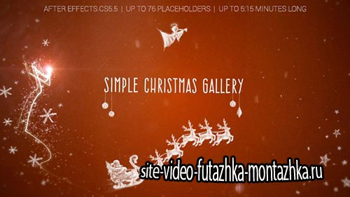 Simple Christmas Gallery - Project for After Effects (Videohive)