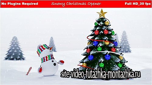 Snowy Christmas Opener - Project for After Effects (Videohive)