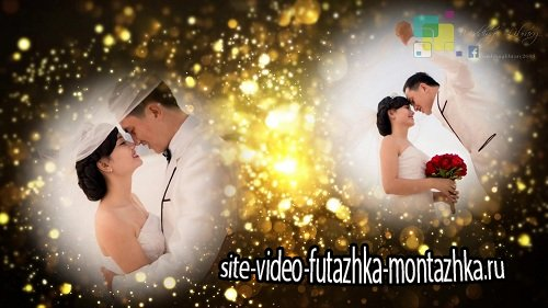 Проект ProShow Producer - Wedding Library Proshow Producer Gold Particles Postcard Opener