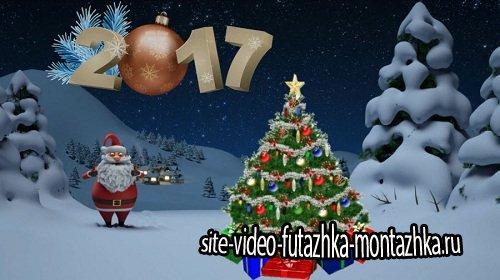 Новогодний футаж - Magician Santa