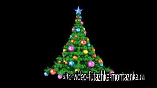 футаж Новогодняя елка - Animation Christmas Tree