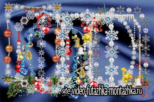 Клипарт Новогодняя подборка рамок-вырезов