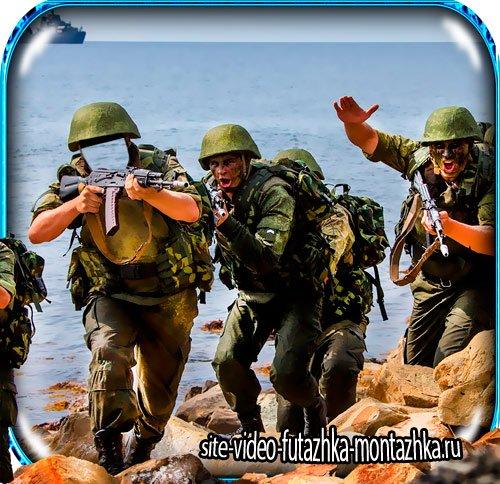 Фотошаблон фотошоп - Морская пехота