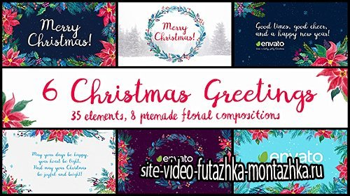 6 Christmas Greetings - Project for After Effects (Videohive)