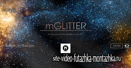 mGlitter - 50 Glamorous 4K Glitter Dust Files For Any NLE