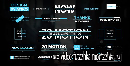 Motion Titles & Lower Thirds 1 - Project for After Effects (Videohive)