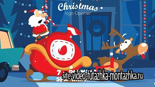 Christmas Logo Opener 7 - parking - Project for After Effects (Videohive)