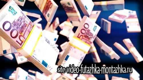 Футаж фоновый - Euro Bills