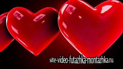 Футаж фоновый - Looping Hearts