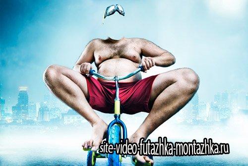 Фотошаблон мужской - Обкатка велосипеда