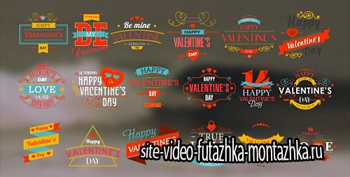 Happy Valentine's Day Badges Pack - Project for After Effects (Videohive)