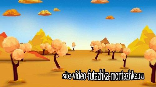 Футаж фоновый - Сказочная аллея HD