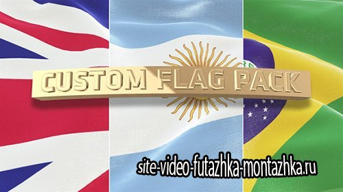 Custom Flag Pack - Project for After Effects (Videohive)