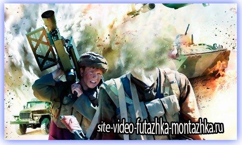 Psd шаблон для фото - Афганский воин