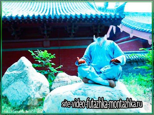 Psd шаблон для фотошопа - Китайский мастер кунг фу