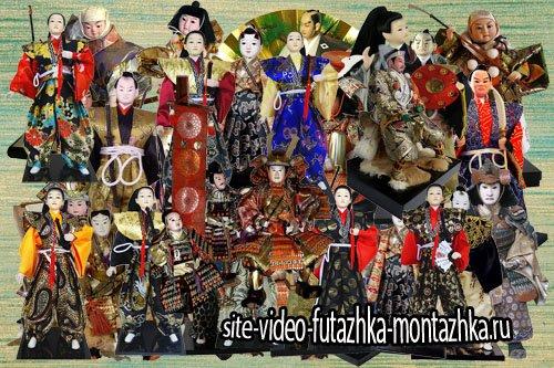 Подборка старинных и современных японских кукол