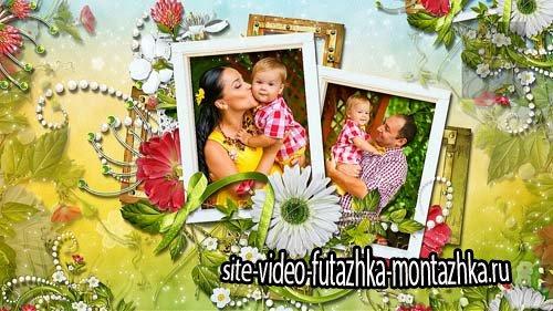 Стили для семейного фото из цветочных рамочек для ProShow Producer (4)