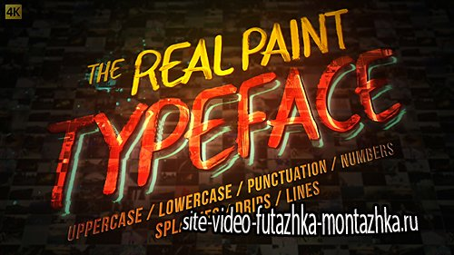 Real Paint Typeface Kit - Project for After Effects (Videohive)