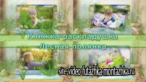 Книжка-раскладушка - Лесная полянка |Forest glade - project for ProShow Producer