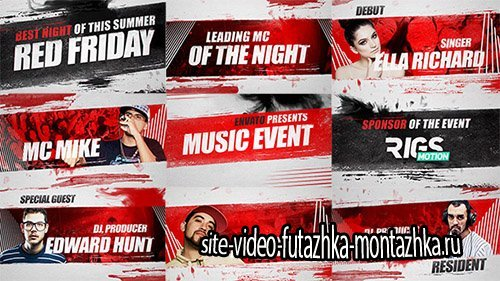 Music Event 3 // Grunge Promo - Project for After Effects (Videohive)