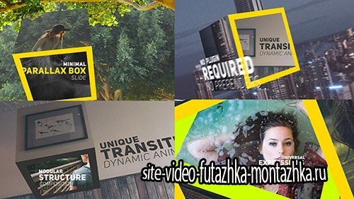 Minimal Parallax Box - Project for After Effects (Videohive)