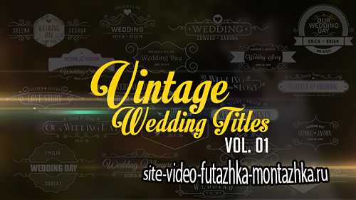 Vintage Wedding Titles vol. 01 - Project for After Effects (Videohive)