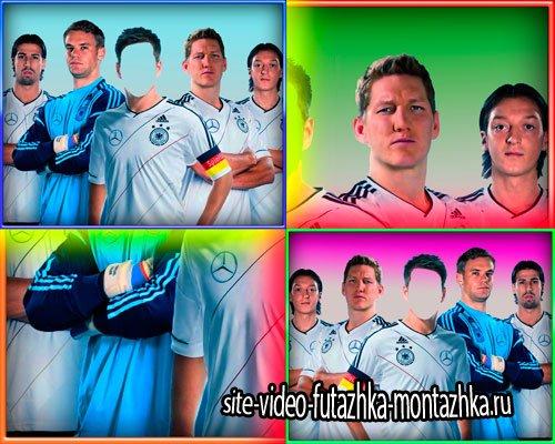 Многослойный шаблон для монтажа - Немецкие футболисты