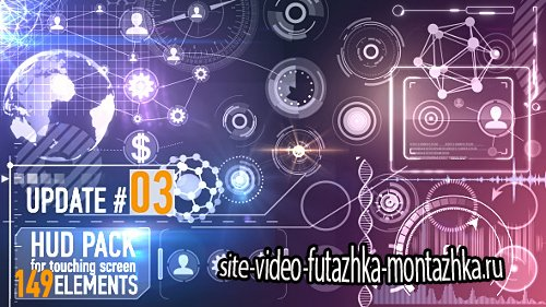 149 HUD Elements Pack for Touch Screen - Motion Graphic (Videohive)