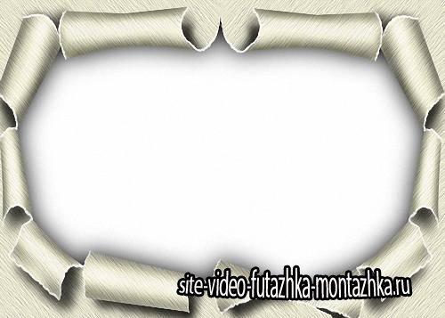 Фоторамка - Разорванная бумага