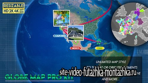 Globe Map Pro Kit - Project for After Effects (Videohive)