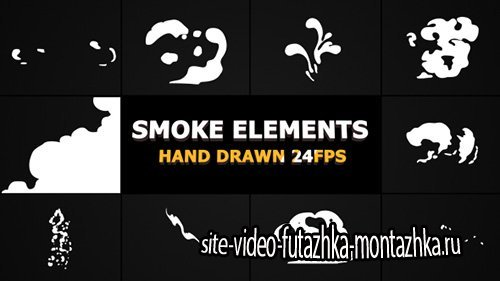 Cartoon Smoke Elements And Transitions - Project for After Effects (Videohive)