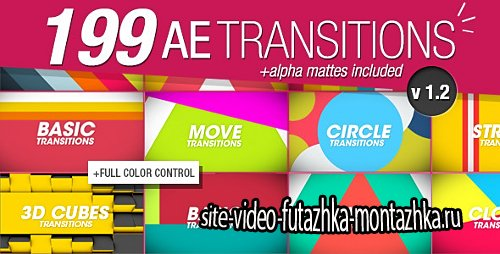 199 Transitions Pack v1.2 - Project for After Effects (Videohive)