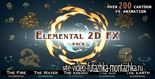 Elemental 2D FX pack [200 elements] V4 - Motion Graphic (Videohive)