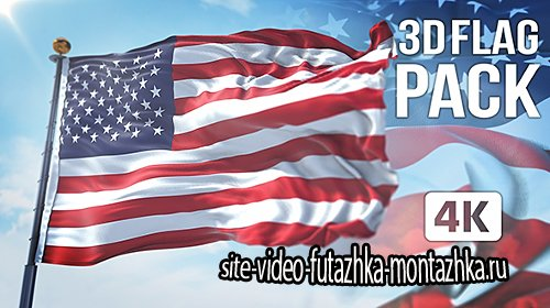 3D Flag Collection - Project for After Effects (Videohive)
