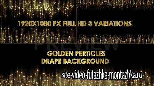 футажи-Gold Particles Drape Background