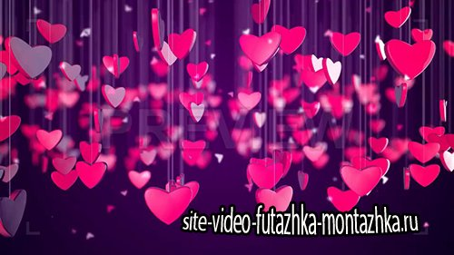 фоновый футаж - Romantic Love Heart Background