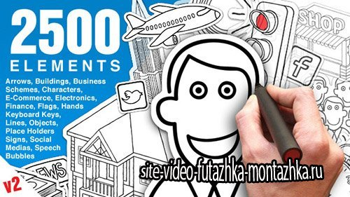 Whiteboard Animation Pack V2 - Project for After Effects (Videohive)