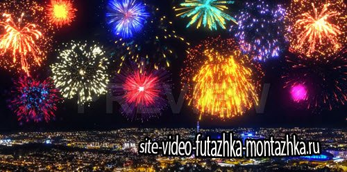 футажи-Colorful Fireworks Pack