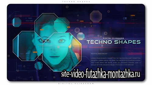 Techno Shapes Digital Slideshow - Project for After Effects (Videohive)