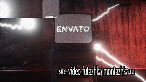 Old Distorted Horror TV Glitch Logo Opener - Project for After Effects (Videohive)