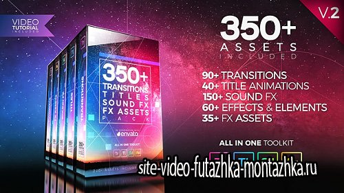350+ Pack: Transitions, Titles, Sound FX - Project for Premiere Pro (Videohive)